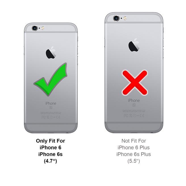 Handykette + Hülle für Apple iPhone 6, iPhone 6S Schutzhülle mit Band Kordel Schnur Case zum umhängen