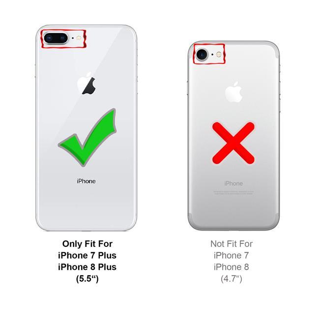 Handykette + Hülle für Apple iPhone 7 Plus, iPhone 8 Plus Schutzhülle mit Band Kordel Schnur Case zum umhängen
