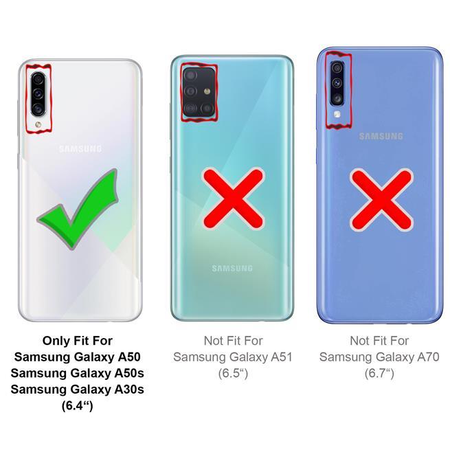 Handykette + Hülle für Samsung Galaxy A50, Samsung A30s Schutzhülle mit Band Kordel Schnur Case zum umhängen