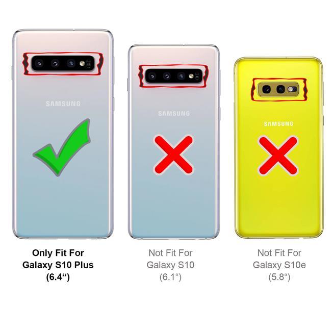 Handykette + Hülle für Samsung Galaxy S10 Plus Schutzhülle mit Band Kordel Schnur Case zum umhängen