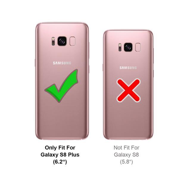 Handykette Silber/Weiss + Hülle für Samsung Galaxy S8 Plus Schutzhülle mit Trage Band Kordel Schnur Case zum umhängen
