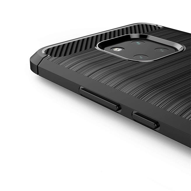 Handy Hülle für Huawei Mate 20 Pro Backcover Case im Carbon Design