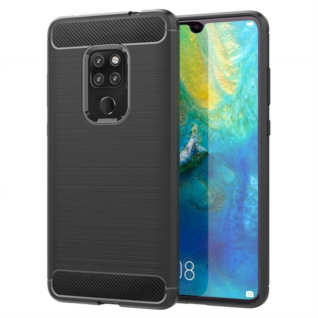 Handy Hülle für Huawei Mate 20 Backcover Case im Carbon Design