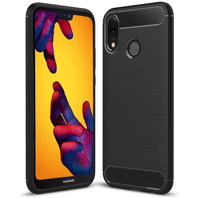Handy Hülle für Huawei P20 Lite Backcover Case im Carbon Design
