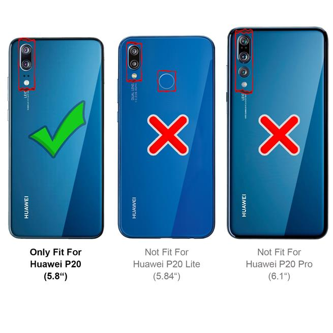 Handy Hülle für Huawei P20 Backcover Case im Carbon Design
