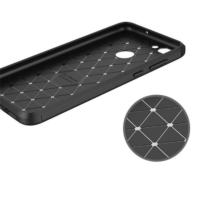 Schutzhülle für Huawei P Smart Dünn Matt Schwarz Handy Case Cover Hülle in Schwarz