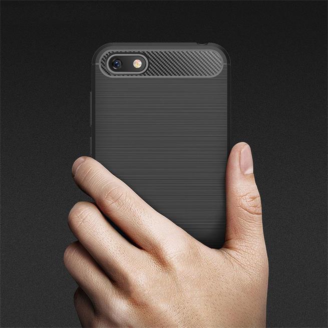 Handy Hülle für Huawei Y5 2018 Backcover Case im Carbon Design