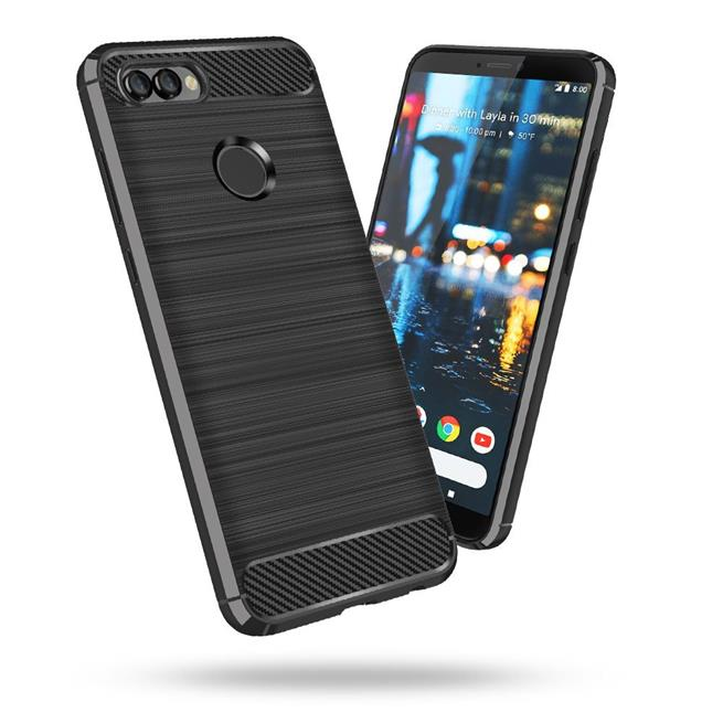 Handy Hülle für Huawei Y7 2018 Backcover Case im Carbon Design