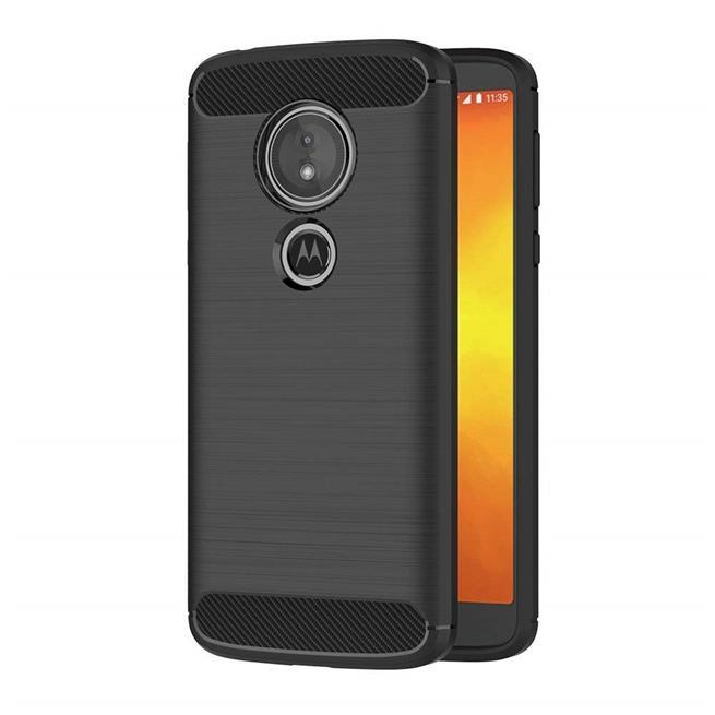 Hülle Carbon für Motorola Moto G6 Play Schutzhülle Handy Case Hybrid Cover