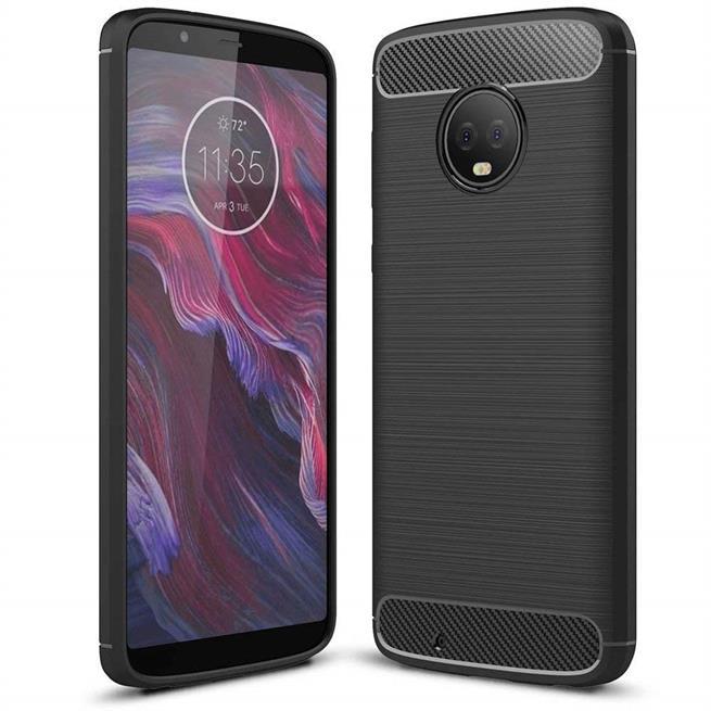 Handy Hülle für Motorola Moto G6 Backcover Case im Carbon Design