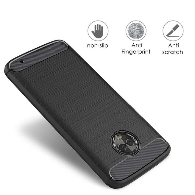 Handy Hülle für Motorola Moto X4 Backcover Case im Carbon Design