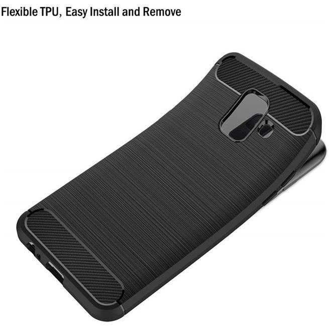Handy Hülle für Samsung Galaxy A6 Plus Backcover Case im Carbon Design