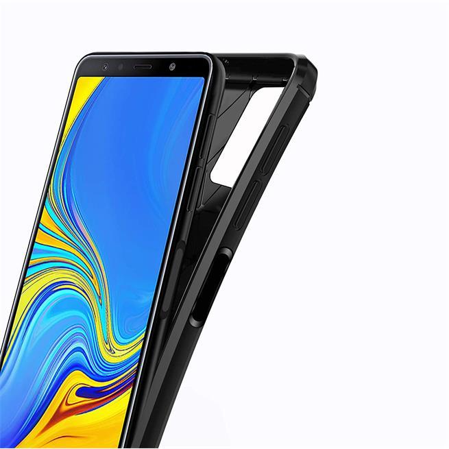 Handy Hülle für Samsung Galaxy A7 2018 Backcover Case im Carbon Design