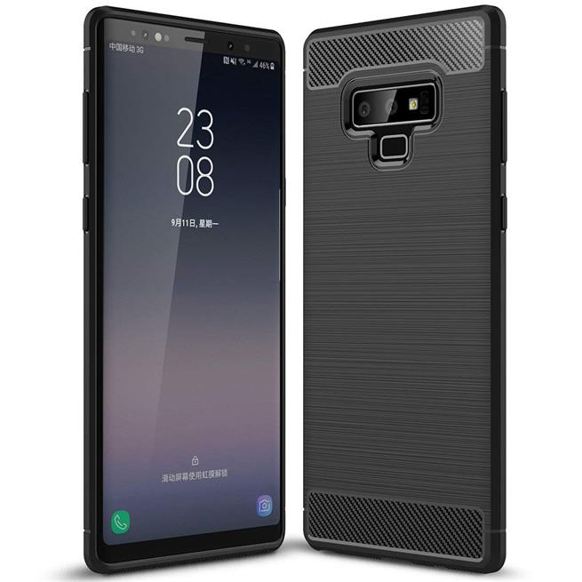Handy Hülle für Samsung Galaxy Note 9 Backcover Case im Carbon Design