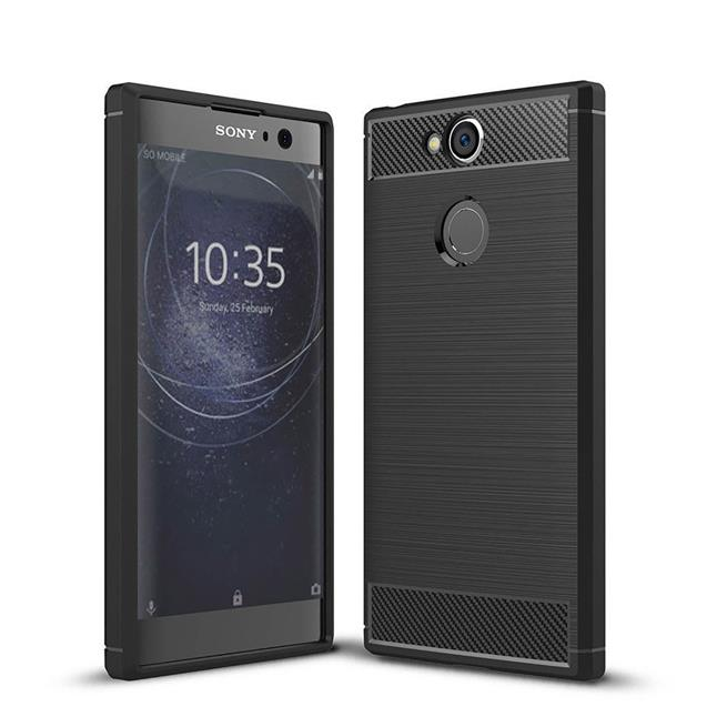 Handy Hülle für Sony Xperia XA2 Backcover Case im Carbon Design