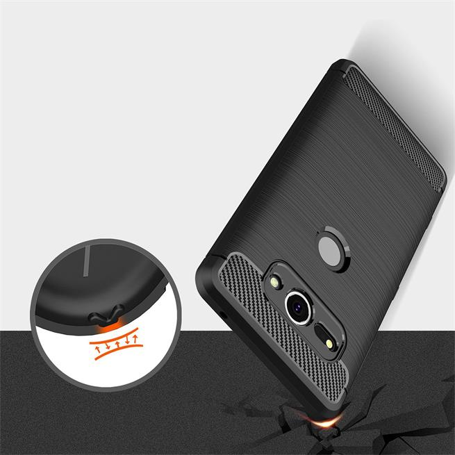 Schutzhülle für Sony Xperia XZ2 Compact Dünn Matt Schwarz Handy Case Cover Hülle