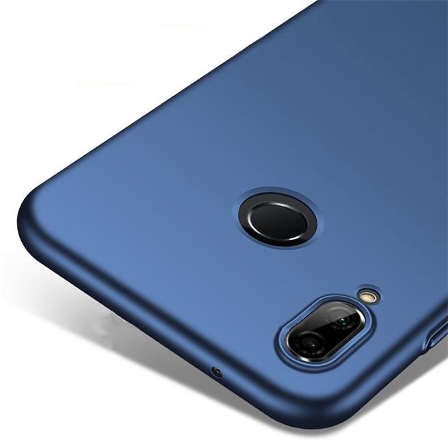 Classic Schutzhülle für Huawei P Smart Hülle Slim Dünn Hardcase mit samtig-weicher Beschichtung in Blau