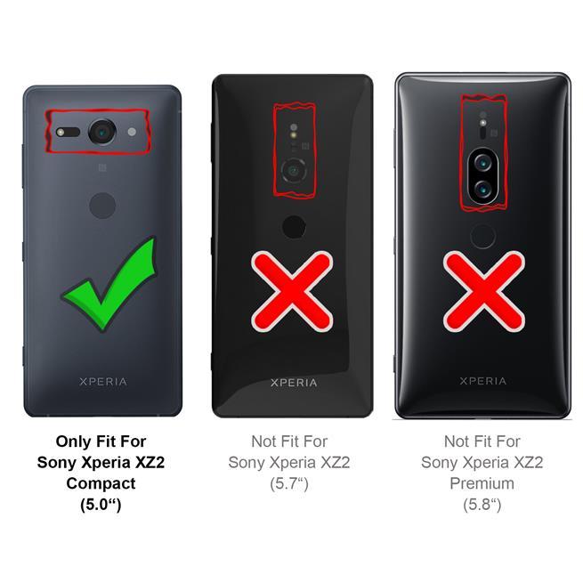 Classic Schutzhülle für Sony Xperia XZ2 Compact Hülle Slim Dünn Hardcase mit samtig-weicher Beschichtung in Schwarz