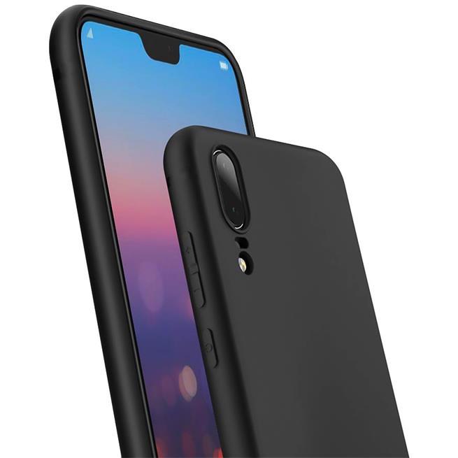 Matte Silikon Hülle für Huawei P20 Backcover Handy Schutz Case