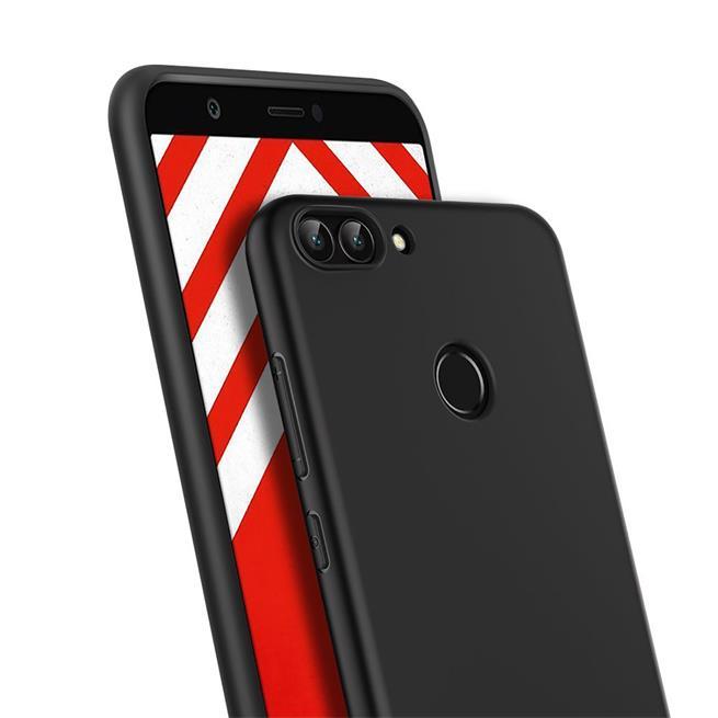 Matte Silikon Hülle für Huawei P Smart Backcover Handy Case