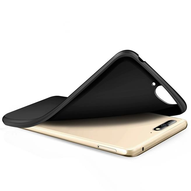 Matte Silikon Hülle für Huawei Y6 2018 Backcover Handy Case