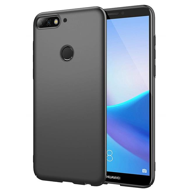 Matte Silikon Hülle für Huawei Y7 2018 Backcover Handy Case