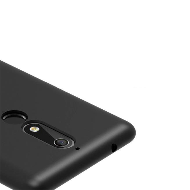 Matte Silikon Hülle für Nokia 5.1 2018 Backcover Handy Case