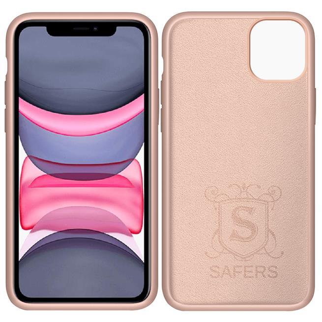 Handy Hülle für Apple iPhone 11 Soft Case mit innenliegendem Stoffbezug