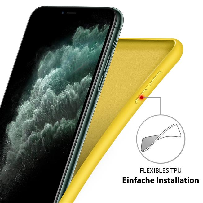 Handy Hülle für Apple iPhone 7 / 8 / SE 2 Soft Case mit innenliegendem Stoffbezug
