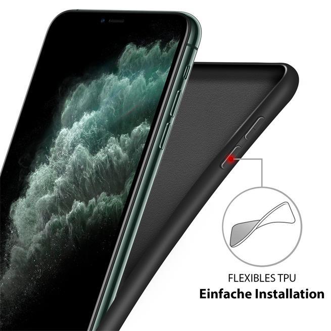 Handy Hülle für Apple iPhone 7 Plus / 8 Plus Soft Case mit innenliegendem Stoffbezug
