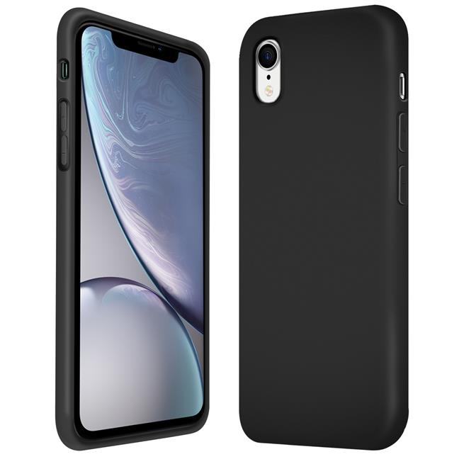 Handy Hülle für Apple iPhone XR Soft Case mit innenliegendem Stoffbezug