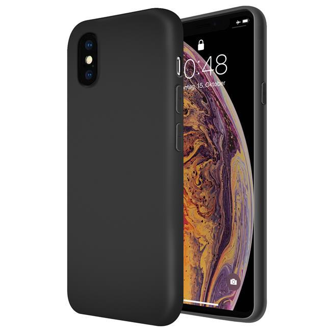 Handy Hülle für Apple iPhone XS Max Soft Case mit innenliegendem Stoffbezug