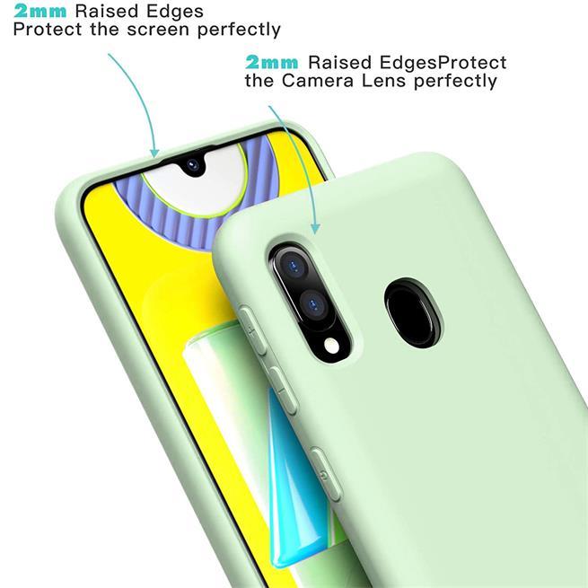 Handy Hülle für Samsung Galaxy A20e Soft Case mit innenliegendem Stoffbezug
