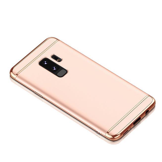 Glamour Hardcase für Samsung Galaxy S9 Hülle [robust] Schutz Cover Tasche in Rosegold