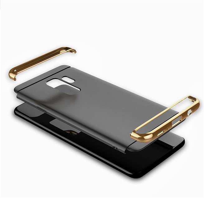 Glamour Hardcase für Samsung Galaxy S9 Hülle [robust] Schutz Cover Tasche in Schwarz
