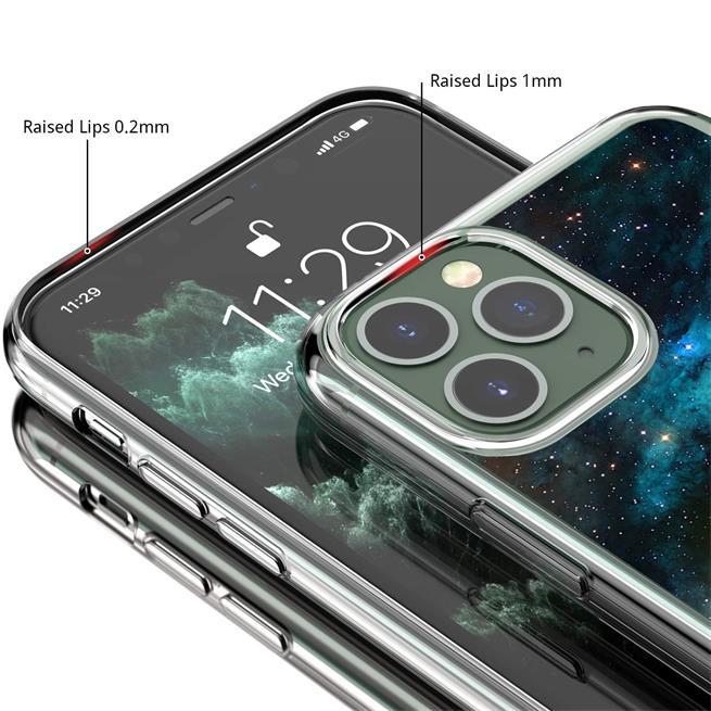 Handy Hülle für Apple iPhone 11 Pro Max Case Silikon Muster Cover Schutzhülle