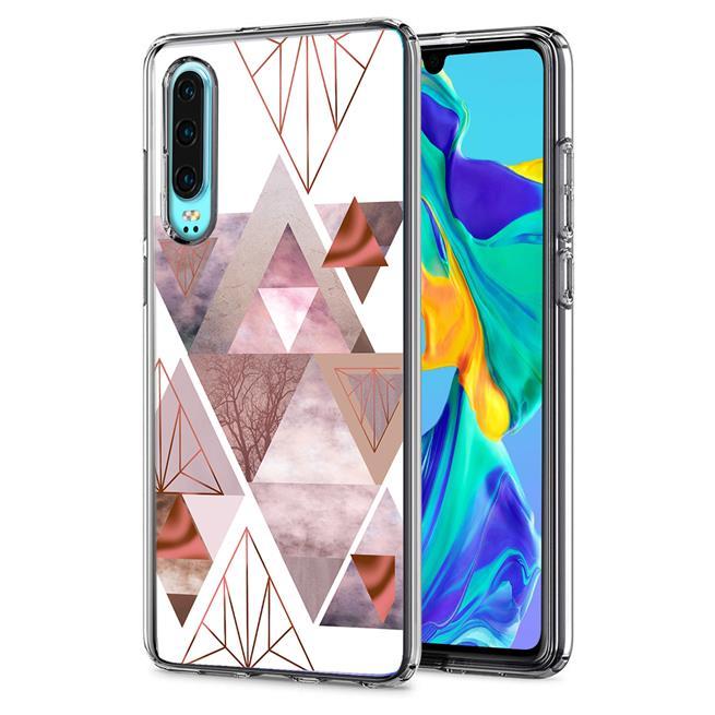 Motiv TPU Cover für Huawei P30 Hülle Silikon Case mit Muster Handy Schutzhülle