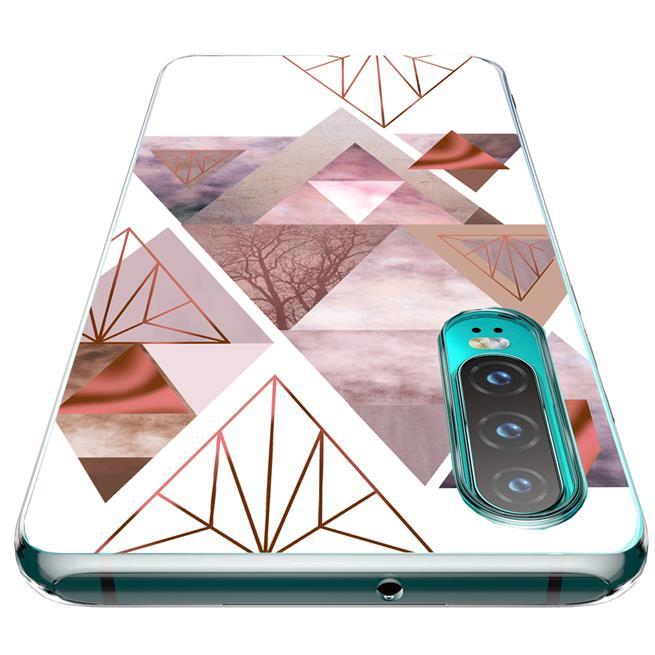 Motiv TPU Cover für Huawei P30 Lite Hülle Silikon Case mit Muster Handy Schutzhülle
