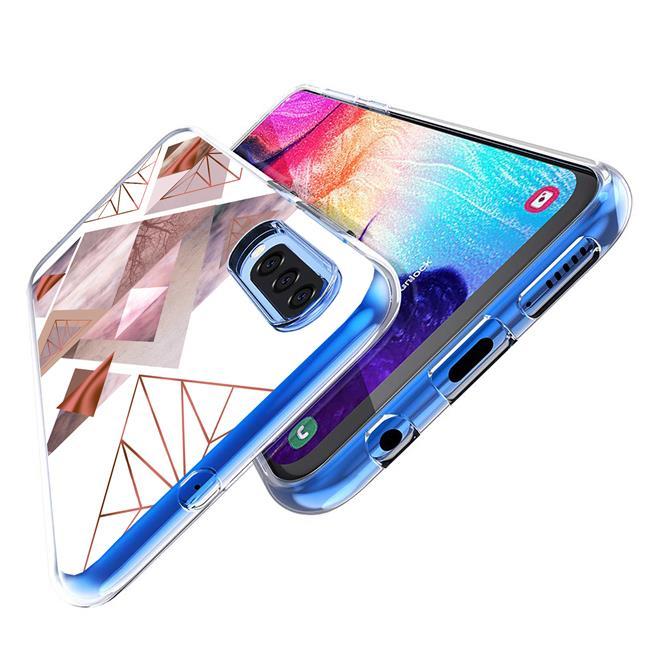 Motiv TPU Cover für Samsung Galaxy A40 Hülle Silikon Case mit Muster Handy Schutzhülle