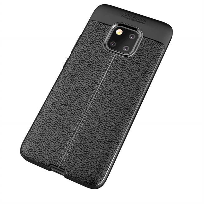 Schutz Hülle für Huawei Mate 20 Pro Backcover Handy Case Leder Optik
