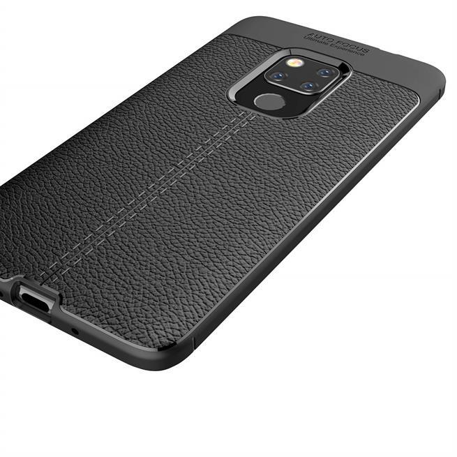 Schutz Hülle für Huawei Mate 20 Backcover Handy Case Leder Optik