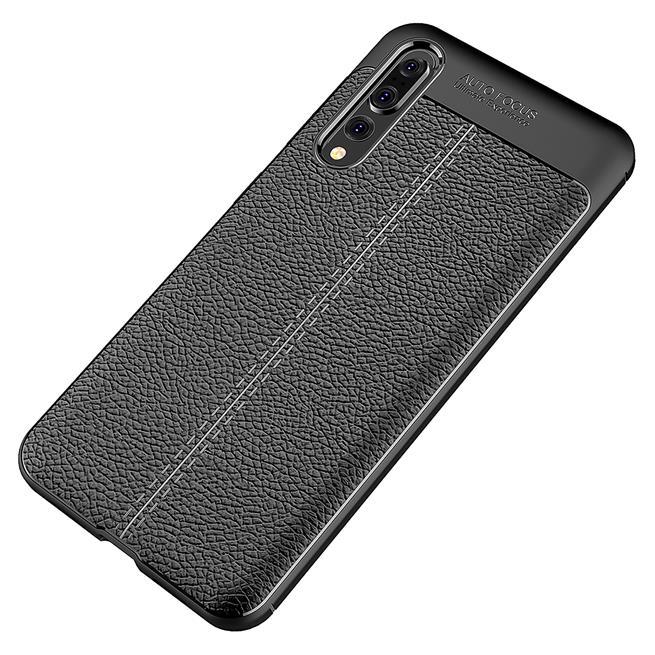 Schutz Hülle für Huawei P20 Pro Backcover Handy Case Leder Optik