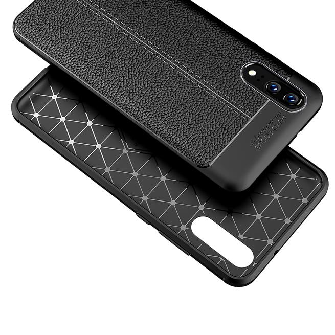 Schutz Hülle für Huawei P20 Backcover Handy Case Leder Optik