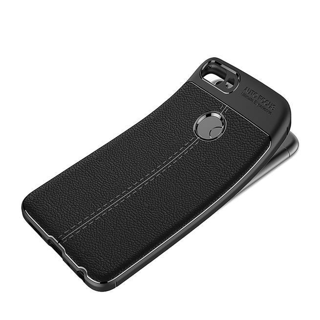 Schutz Hülle für Huawei P Smart Backcover Handy Case Leder Optik