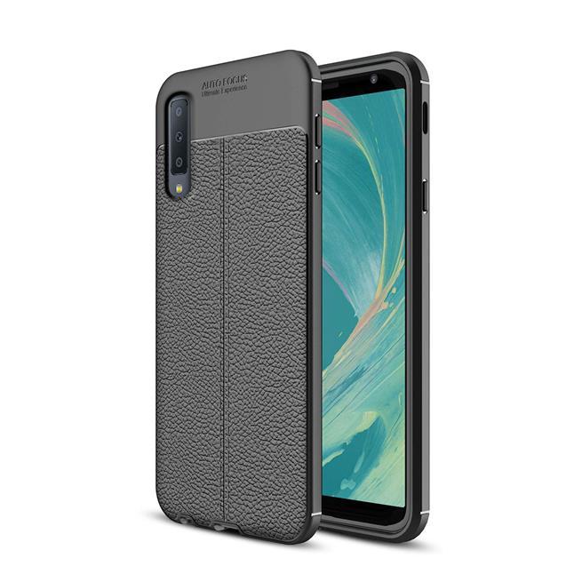 Schutz Hülle für Samsung Galaxy A7 2018 Backcover Handy Case Leder Optik