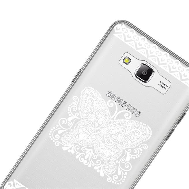 Henna Crystal Case für Samsung Galaxy J3 2016 Hülle Silikonhülle Mandala Motiv Design
