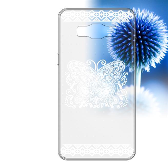 Henna Crystal Case für Samsung Galaxy J5 Hülle Silikonhülle Mandala Motiv Design