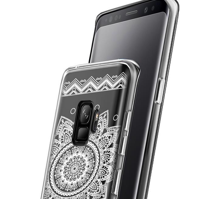 Henna Motiv Hülle für Samsung Galaxy S9 Plus Backcover Handy Case