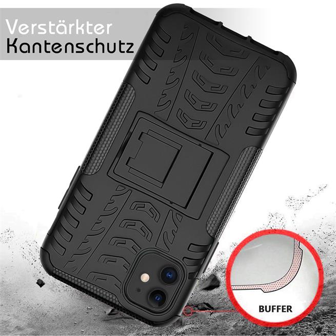 Outdoor Hülle für Apple iPhone 11 Case Hybrid Armor Cover robuste Schutzhülle