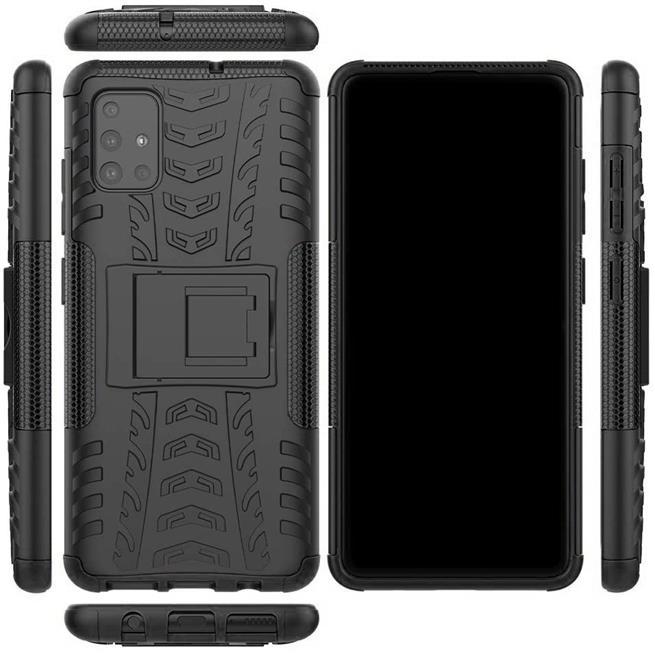 Outdoor Hülle für Samsung Galaxy A71 Case Hybrid Armor Cover robuste Schutzhülle